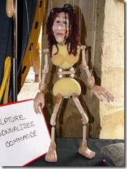 בתמונה בובה בדמותה של בונת המריונטות שהייתה שכנתנו במלון הדרכים. את אותה בובה ראינו גם בתערוכת הצילומים מהפסטיבל האחרון.