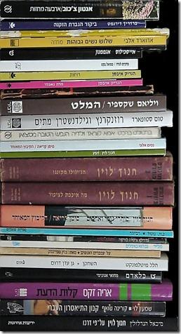 חלק מהמחזות שקראתי בשנה החולפת