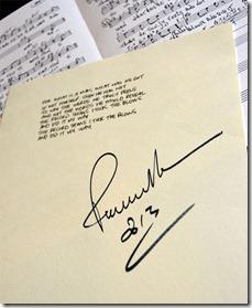 חתימתו של פול אנקה על המילים
