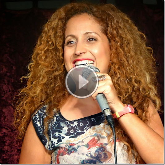 מצגת שקופיות מבמת צחוק בסטודיו בחיפה – אפריל 2014