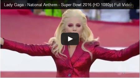 לידי גאגא - ההמנון הלאומי של ארצות הברית של אמריקה - סופר-בול 2016