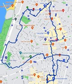 מפת הטיול שלנו אחרי המרתון